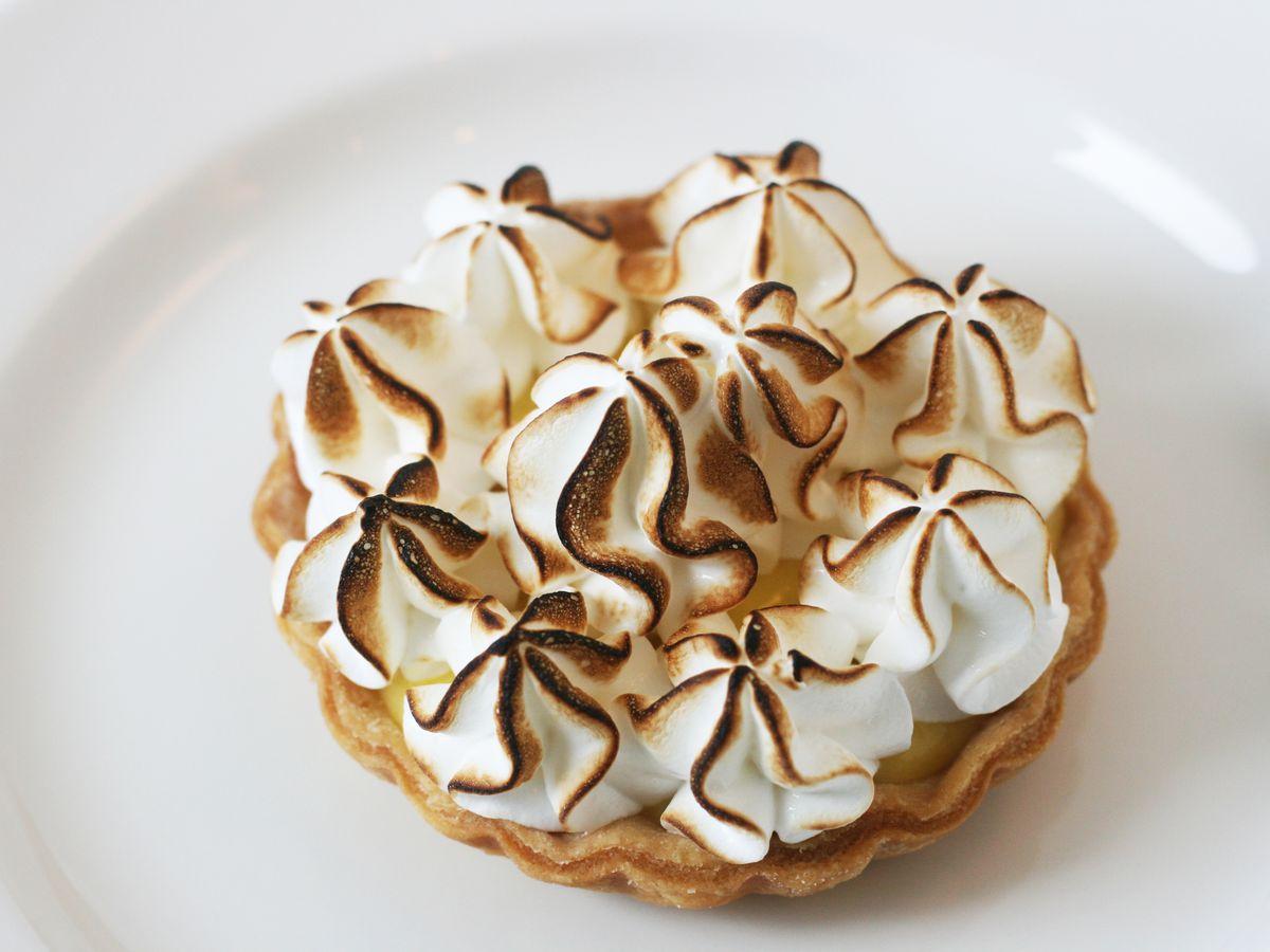 Lemon curd tarte with meringue pie at Bistro Shirlee.