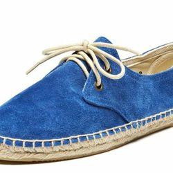 """<b> Soludos</b> Suede Derby in Sapphire Blue, <a href=""""Soludos.com"""">$75</a>"""