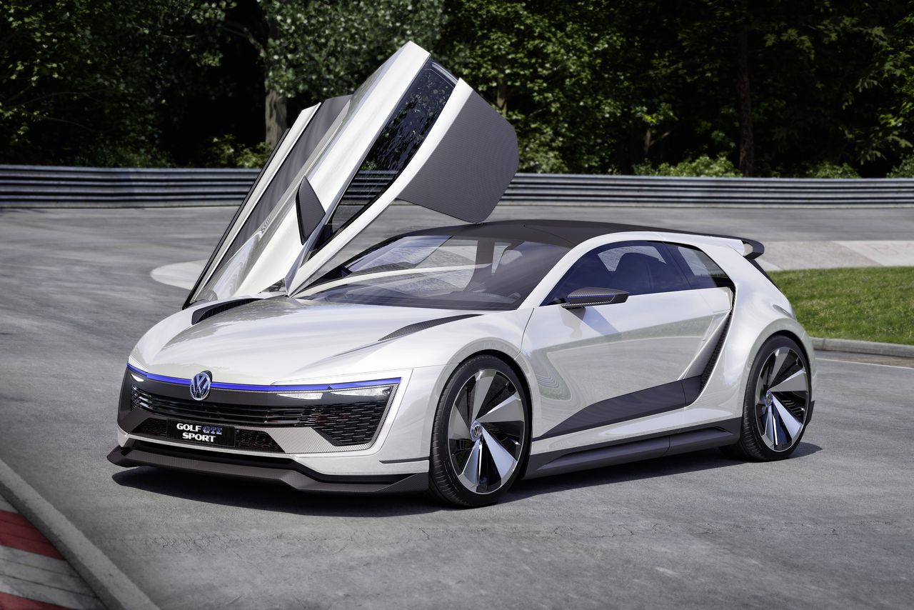 volkswagen 39 s new golf concept has gullwing doors and 395 horsepower the verge. Black Bedroom Furniture Sets. Home Design Ideas