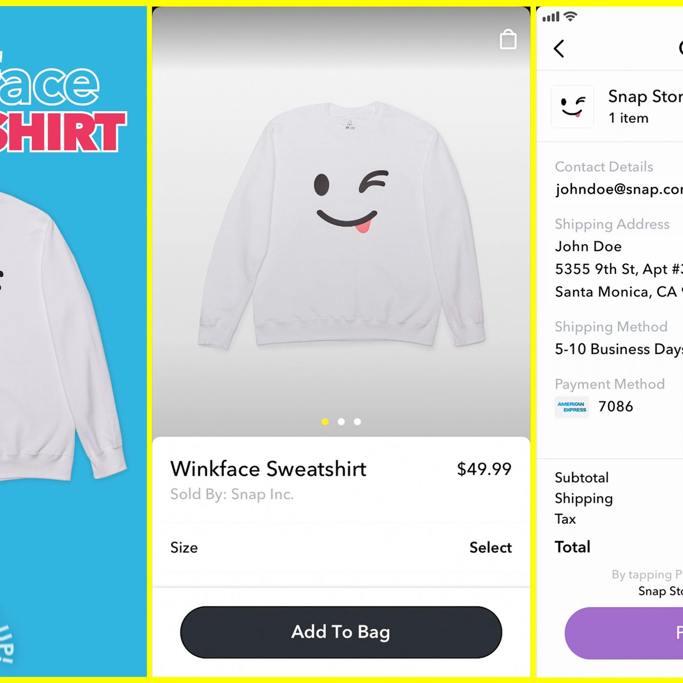 Snapchat is now selling hats and sweatshirts inside its app — and