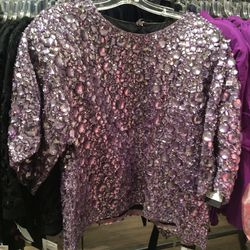 Jeweled top, size 8, $500 (was $2,595)