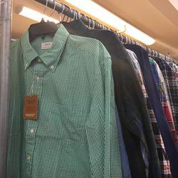 Men's button-down shirts, $30
