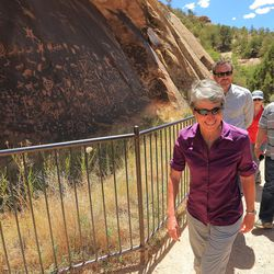Interior Secretary Sally Jewell, visits Canyon Country in southern Utah on Thursday, July 14, 2016.