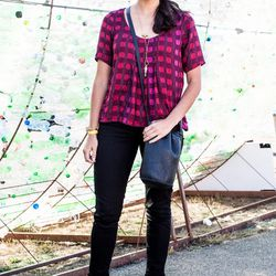 Angela Tafoya; Why we love her look: this bright, comfy top