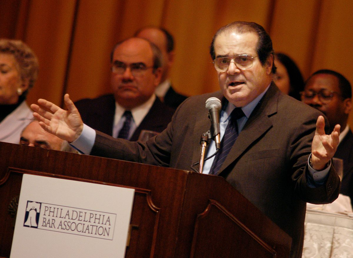 Supreme Court Justice Antonin Scalia Gives Speech In Philadelphia