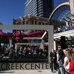 Gov. Gary R. Herbert speaks as City Creek Center opens in Salt Lake City, Thursday, March 22, 2012.