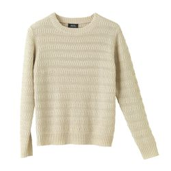 Loose fit crew-neck pullover in linen $325 now $163
