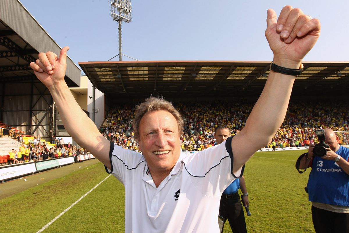 Neil Warnock is keen to achieve his eighth with Leeds United this year but feels his side will have to do it through the play-offs.  (Photo by Ian Walton/Getty Images)