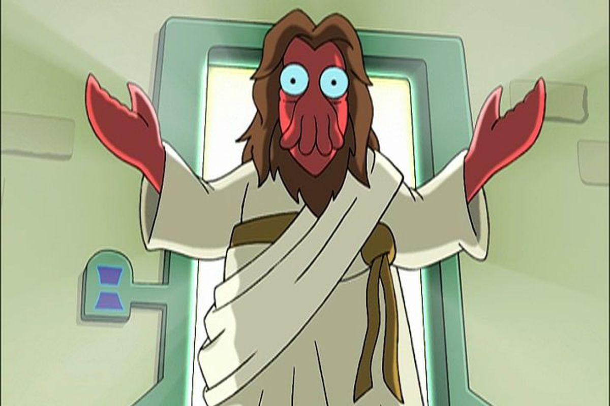 """Ain't no party like a Zoidberg party  (via <a href=""""http://images1.wikia.nocookie.net/__cb20050817111315/uncyclopedia/images/f/f7/Zoidberg_jesus.jpg"""">images1.wikia.nocookie.net</a>)"""