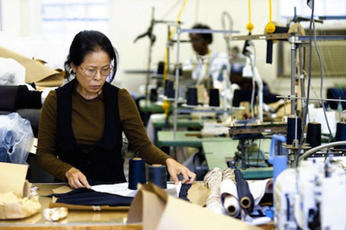 "Skilled laborers go to work in SA VA's garment center. Image credit: <a href=""http://shop.savafashion.com/"">SA VA</a>"
