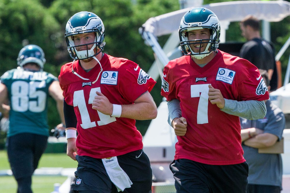 Eagles Training Camp Notes  Sam Bradford and Carson Wentz look sharp ... 272c62f36