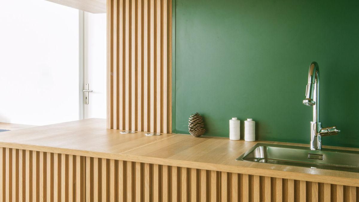 Paris Apartment Features Bold Green Kitchen Curbed