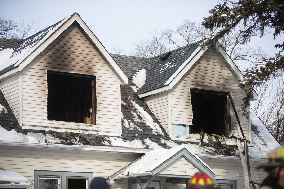 """The Des Plaines house was destroyed. Officials """"told us we cannot live there anymore,"""" said Pabelo Marrero, who lives in one of the two first-floor apartments."""