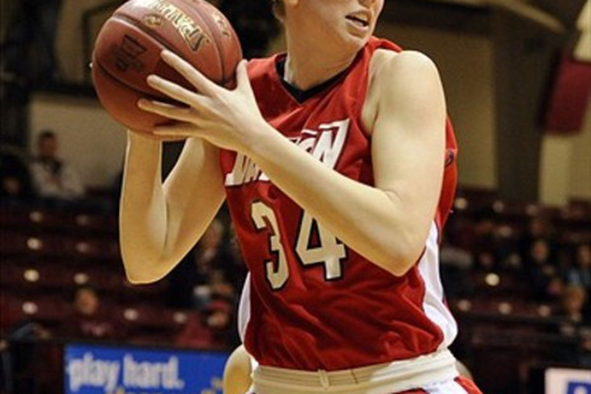 Dayton Flyers wing Justine Raterman is one of the most efficient perimeter scorers eligible for the 2012 WNBA Draft. <em>Howard Smith-US PRESSWIRE</em>