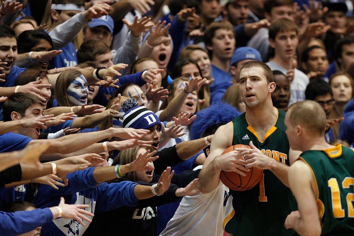 Duke fans are weird...
