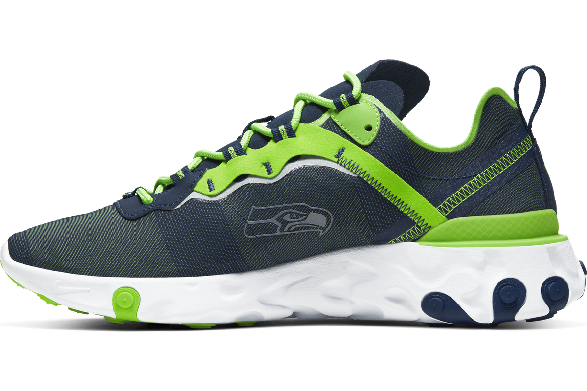 Nike drops the new React Element 55 Seahawks shoe collection