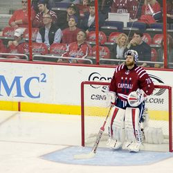 Holtby Watches Replay on the Big Board