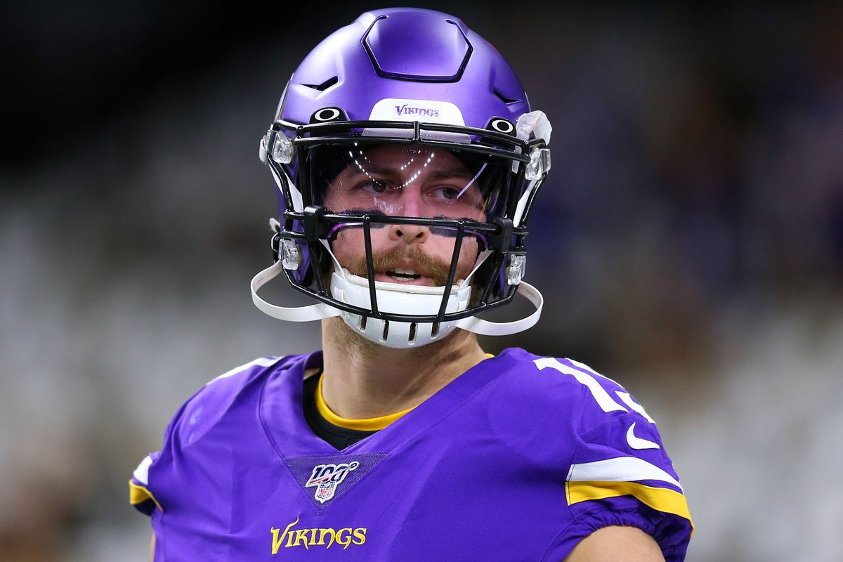 Adam Thielen #19 of the Minnesota Vikings reacts against the New Orleans Saints during a game at the Mercedes Benz Superdome on January 05, 2020 in New Orleans, Louisiana.