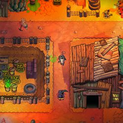 After blighting it with nuclear waste and tire fires, DrinkBox developers redoubled their efforts to make the overworld feel populated and alive with things to do.