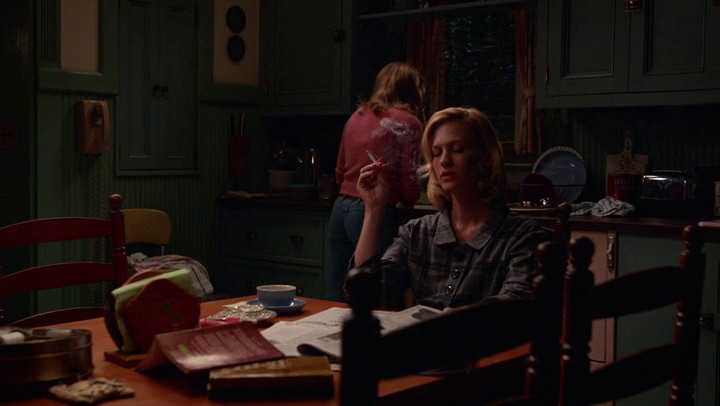 Betty is dying on Mad Men.