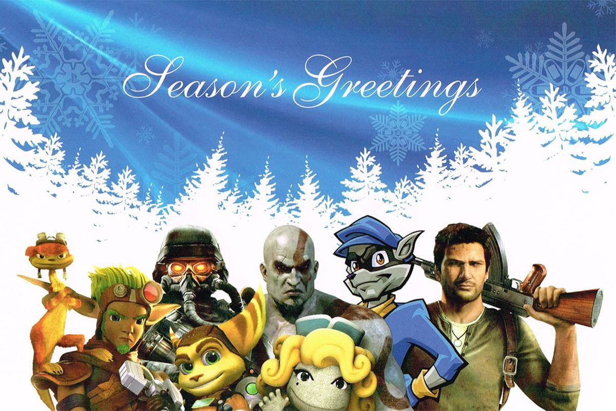 Seasons Greetings From Playstations Cutest And Grumpiest All Stars