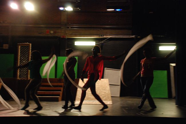 """Cast members of """"The Wiz,"""" produced by Manual High, rehearse after school."""