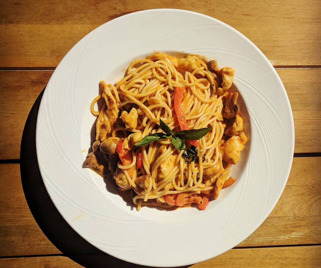 Thai curry noodles from Mandala