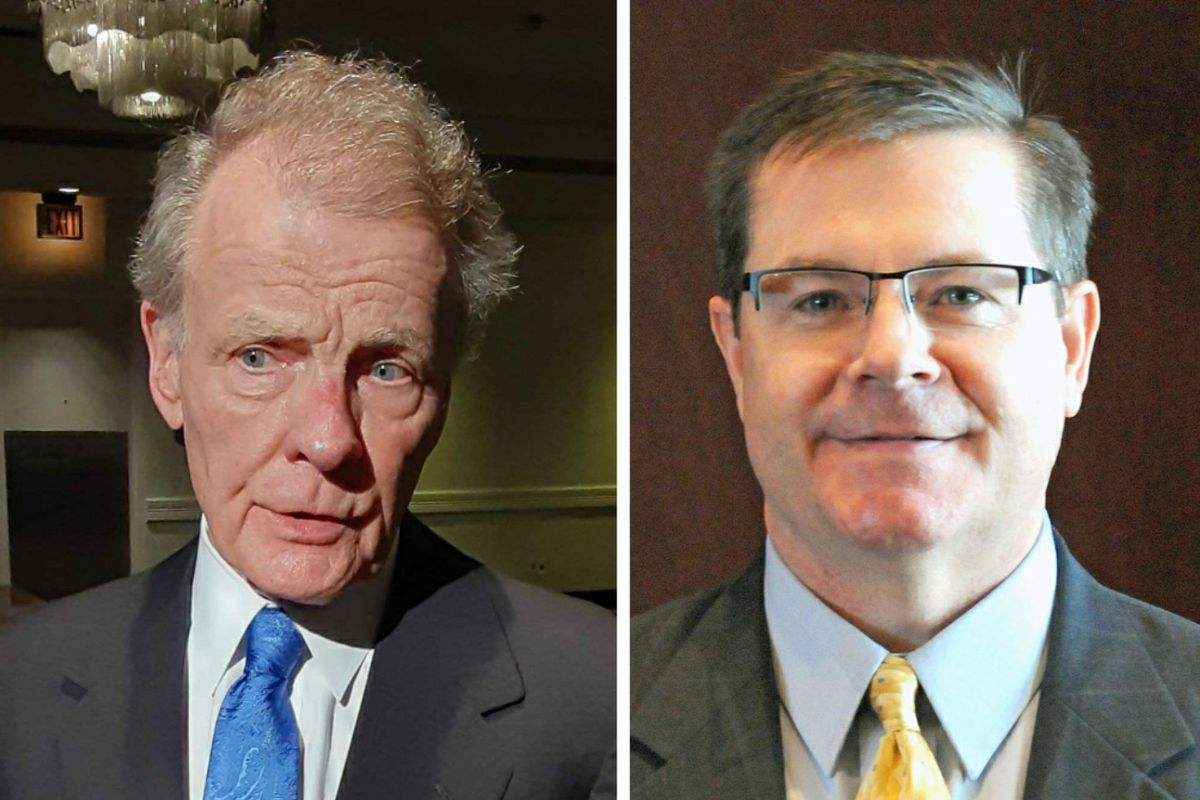 State House Speaker Mike Madigan, left, in Springfield in July; Republican state Rep. Grant Wehrli, right, in undated photo.