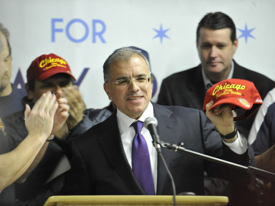 Mayoral candidate Gery Chico was endorsed by the Chicago Firefighters Union Local #2 during his 2011 mayoral run, but he's not getting union endorsements this time. File Photo. | Brian Jackson~Sun-Times