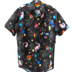 """<a href=""""http://www.etsy.com/listing/166007613/carl-sagan-planets-space-galaxy-handmade?"""">Carl Sagan Planets Space Galaxy Handmade Button Up Collared Shirt</a>, $69"""