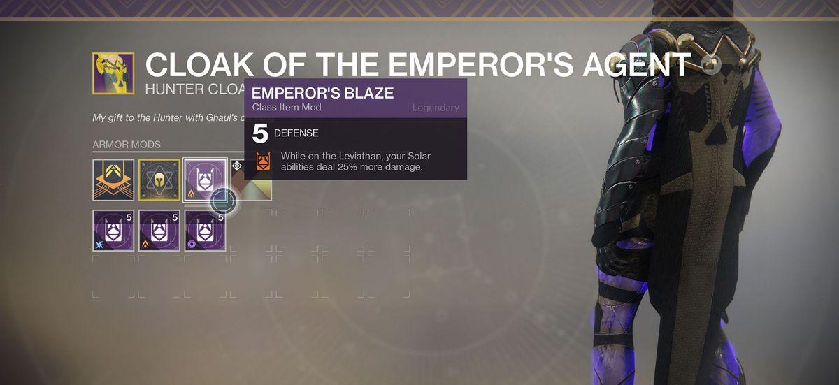 Destiny 2 - Emperor's Blaze legendary raid mod