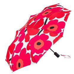 "<b>Marimekko</b> Pieni Unikko Umbrella, <a href=""http://usstore.marimekko.com/bags-and-accessories/Pieni-Unikko-auto-open-umbrella-white-red-001.asp"">$69</a>"