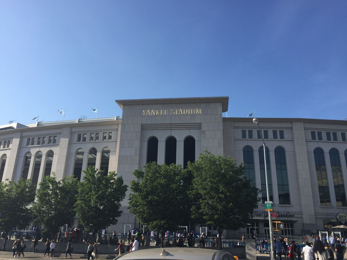 A view from outside Yankee Stadium