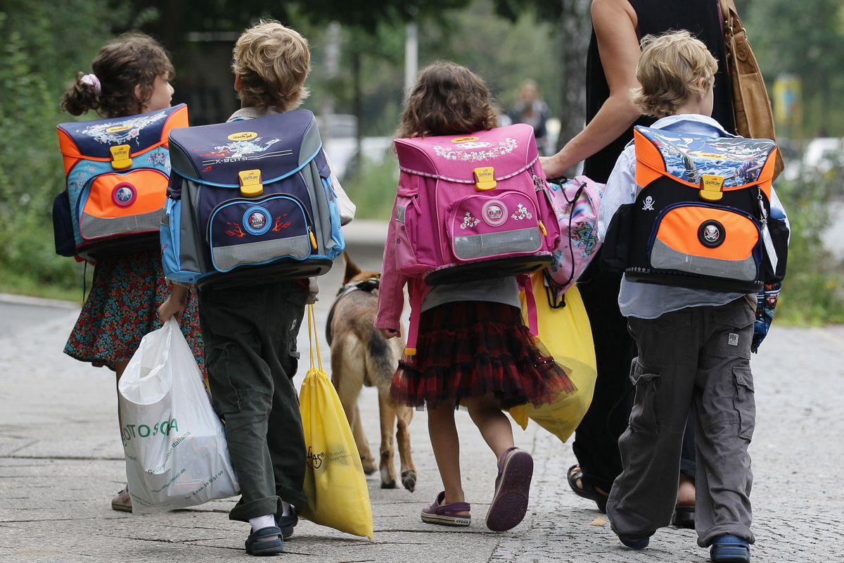 Kids in school.