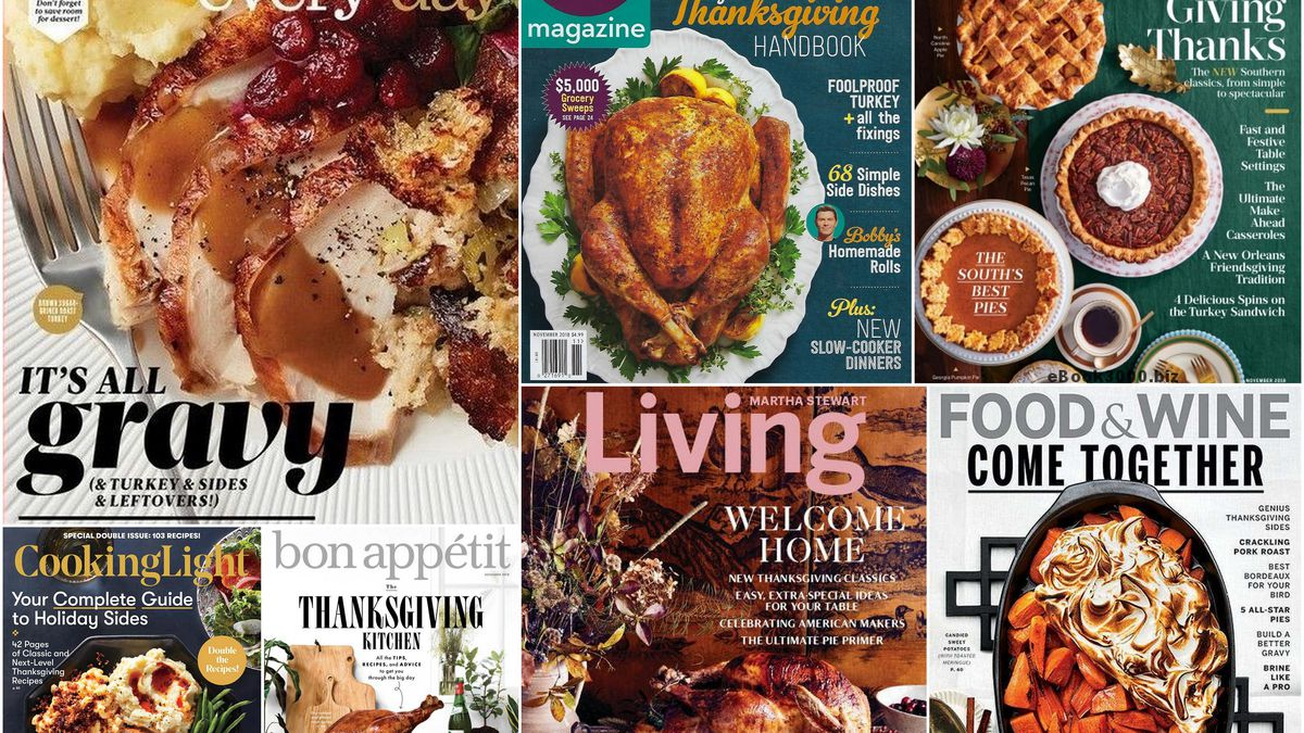 Which Food Magazine Has The Best Thanksgiving Cover