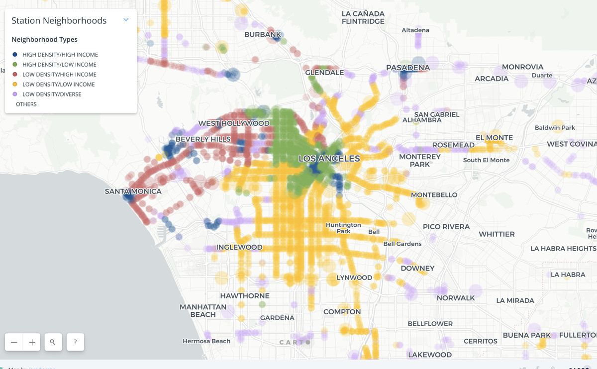 Map Of California La.Sb50 How California S Transit Density Bill Might Change