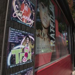 Posters on Halsted Street in Boystown.    Colin Boyle/Sun-Times