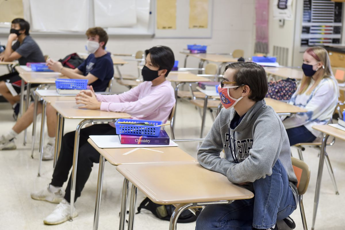 High School In Pennsylvania Operates In Person With Precautions Against COVID-19 / Coronavirus