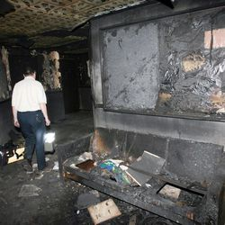 An LDS Church on McClelland near 1000 South in Salt Lake City was vandalized and burned Nov 8, 2006. The arsonist was caught and held for police.