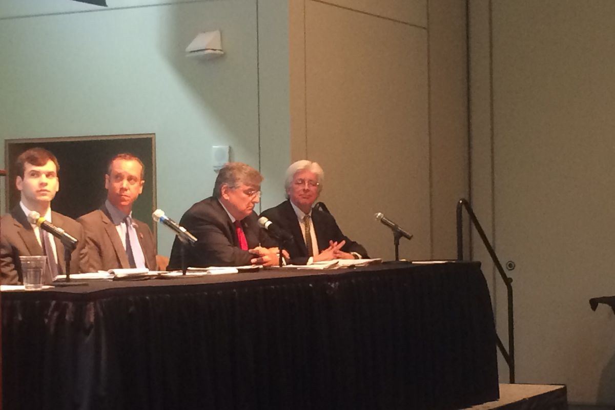 Kevin Huffman  on a panel at the Pathways to Prosperity conference in Nashville this summer.
