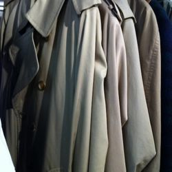 A few Burberry trenches for the gents