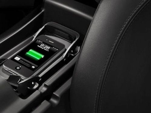 Audi with built-in Qi for device charging