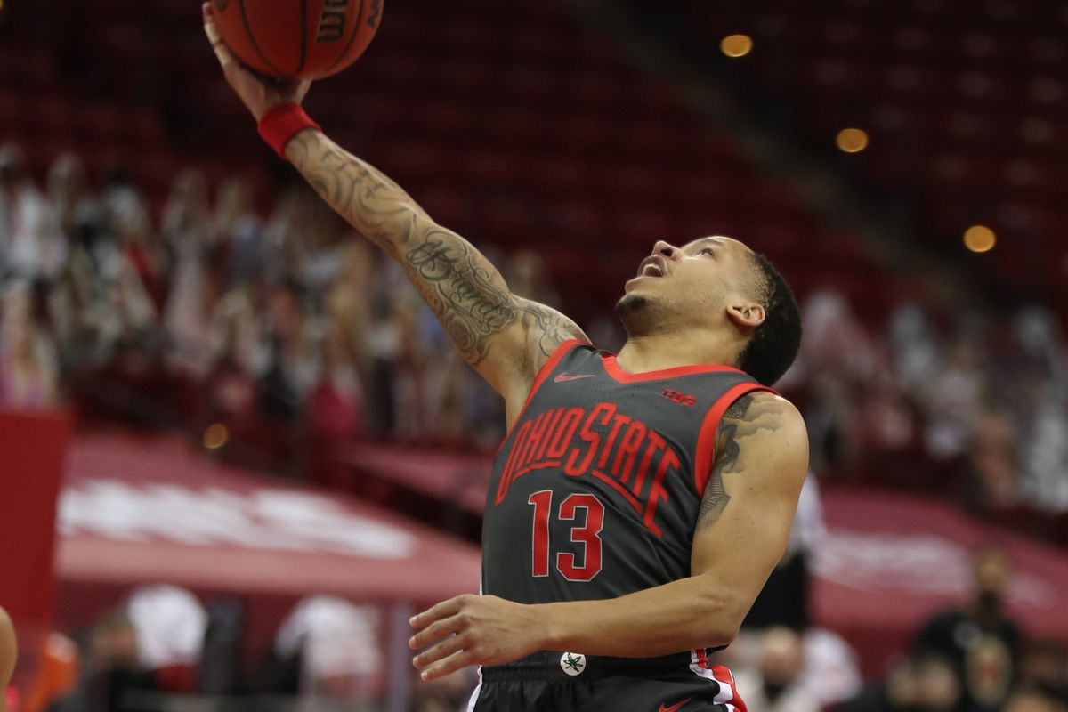 Ohio State Buckeyes guard C.J. Walker shoots in the game with the Wisconsin Badgers during the second half at the Kohl Center.