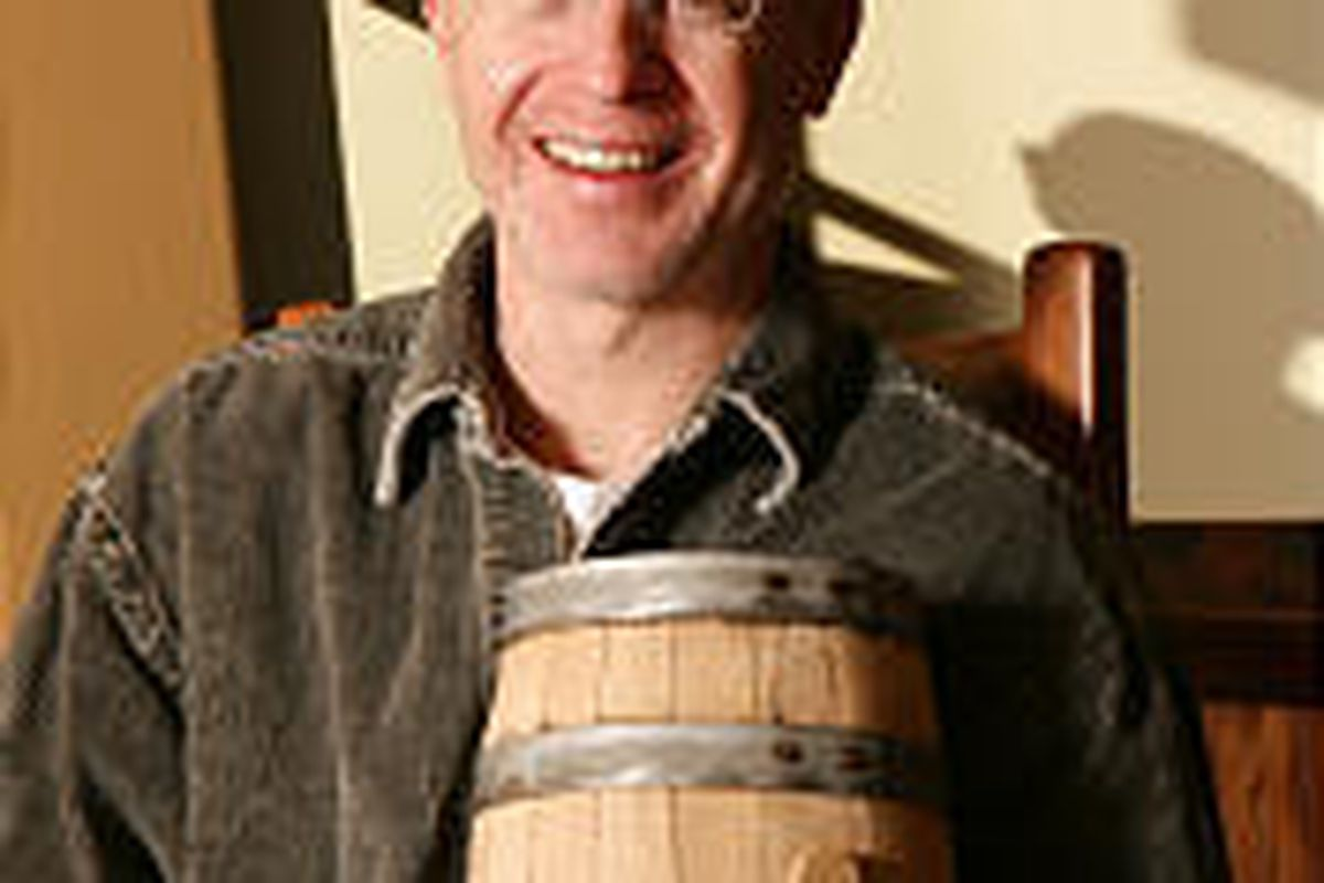 David Perkins has been following two master distillers to get ideas for his facility.