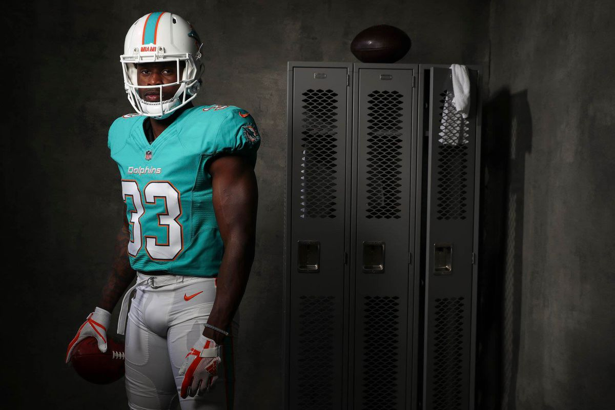 a085cdb15a7 Dolphins rookies debut in new uniforms at NFLPA Rookie Premiere ...