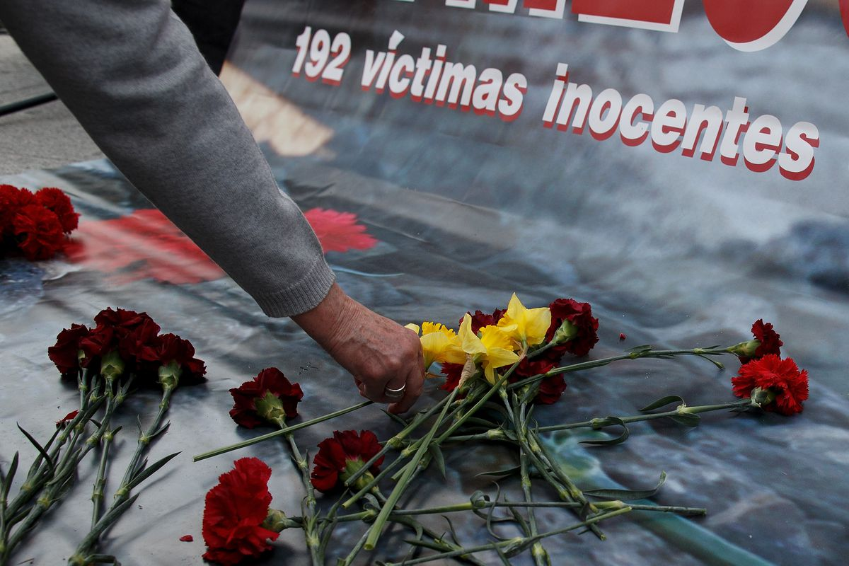 A memorial on the 10th anniversary of the Madrid bombings, on March 11th, 2014.