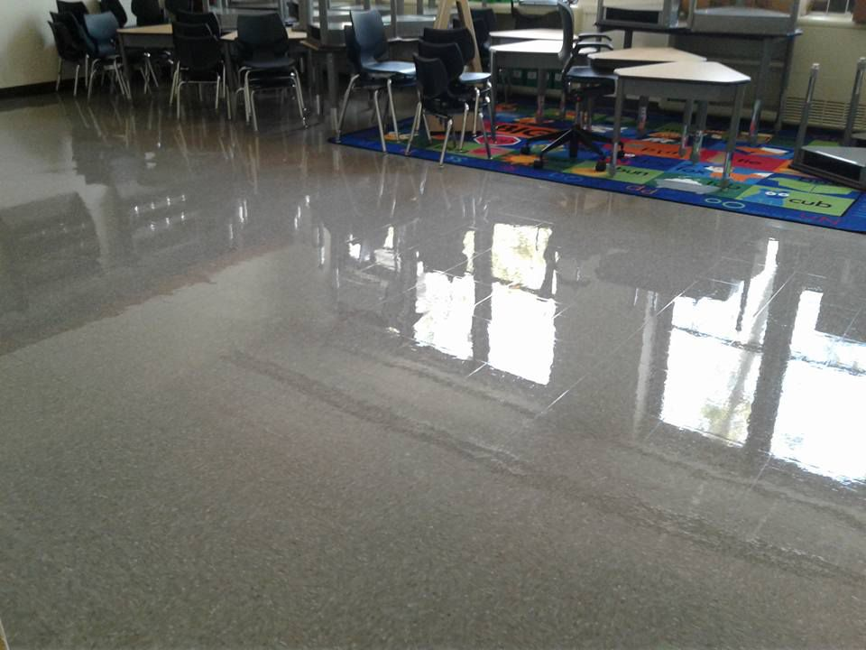 Floor at William Fuller's school, P.S. 314 in the Bronx.