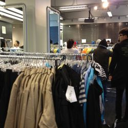 The men's clothing area