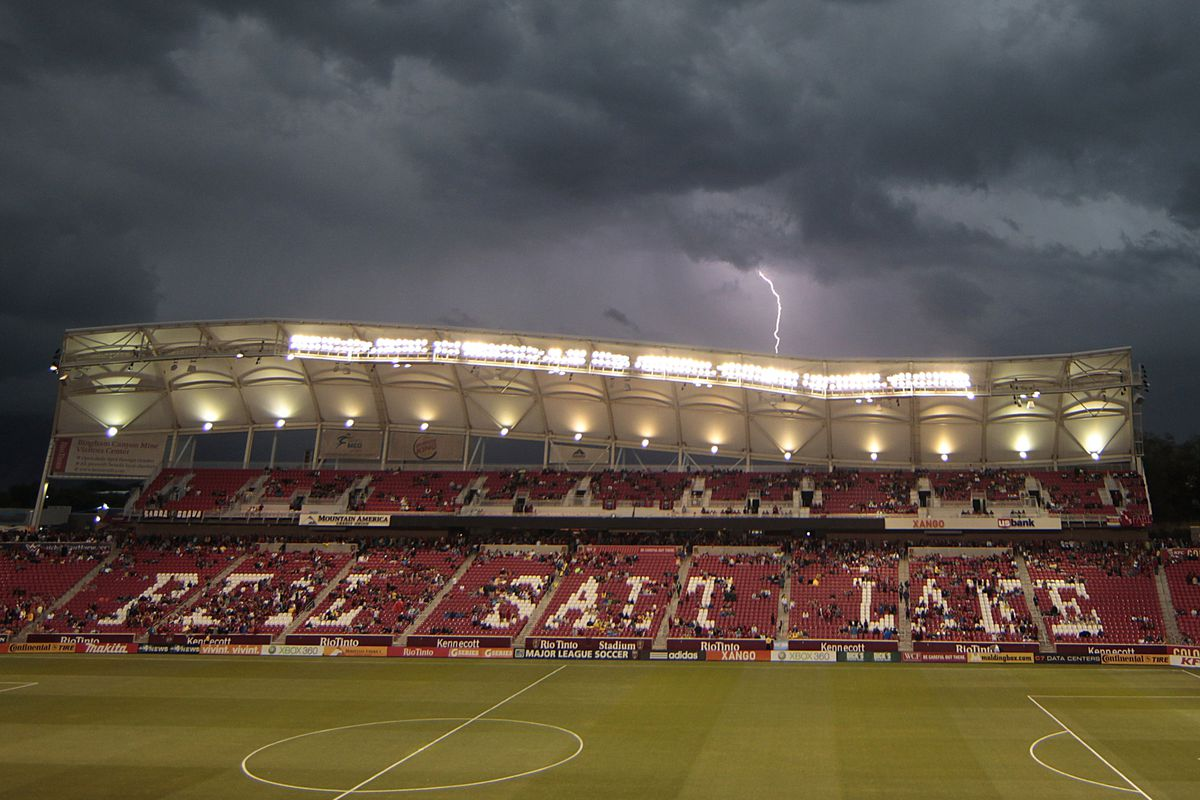 A photo of the player was not immediately available, so enjoy this lovely photo of Rio Tinto Stadium instead.