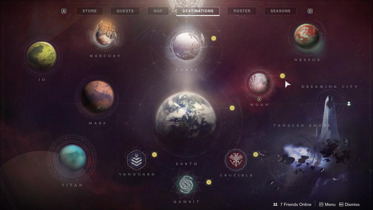 Destiny 2 challenges map